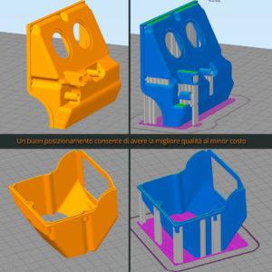 Posizionamento su piano stampante 3D